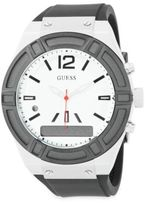 GUESS Connect Stainless Steel and Silicone Fashion Smart Watch- C0001G4