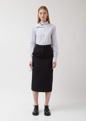 Ann Demeulemeester Wool Blend Suiting Tailored Skirt