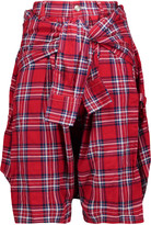 R 13 Vedder checked cotton-blend shorts