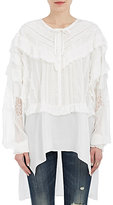 Faith Connexion Women's Lace- & Ruffle-Embellished Silk Blouse
