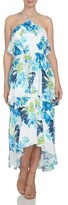 CeCe Women's Floral Ruffle Tier High/low Dress