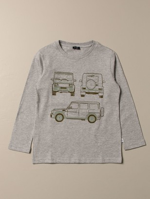 Il Gufo T-shirt In Cotton With Jeep Print