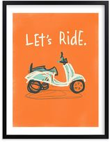 Pottery Barn Kids Let's Ride Wall Art by Minted(R) 11x14