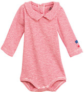 Petit Bateau Baby Boy Long-Sleeved Bodysuit In Striped Brushed Slub Cotton