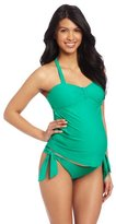 Maternal America Women's Maternity 2 Piece Bow Tankini