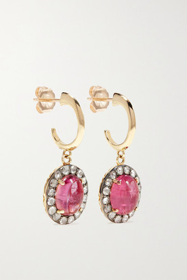 Larkspur & Hawk Arbor Eyelet 14-karat Gold, Tourmaline And Diamond Earrings - one size