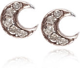 Laura Lee Jewellery Silver Diamond Luna Studs