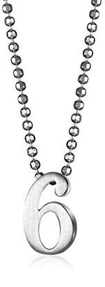 """Alex Woo Little Numbers"""" Sterling Number 6 Pendant Necklace"""