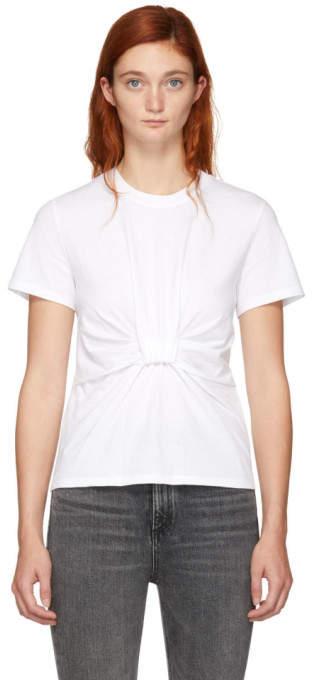 Alexander Wang White Twist Front T-Shirt