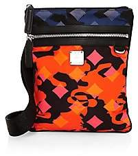 MCM Men's Dieter Munich Lion Camo Nylon Crossbody Bag