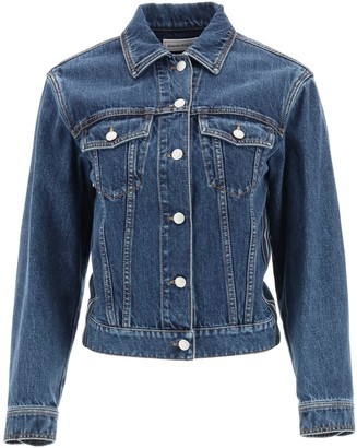 Alexander McQueen Side Stripe Denim Jacket