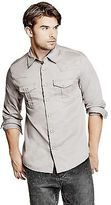 GUESS Men's Ted Slim-Fit Western Shirt