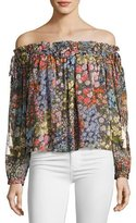 Needle & Thread Flowerbed Off-the-Shoulder Top, Multicolor