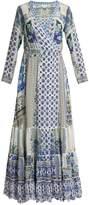 Camilla Salvador Summer silk wrap maxi dress