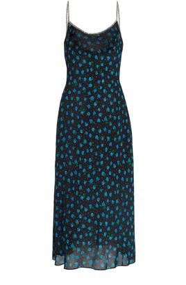 Rixo Holly Printed Silk Midi Slip Dress