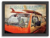 """Americanflat """"Aussie Beaches"""" Surf Bus Framed Wall Art"""