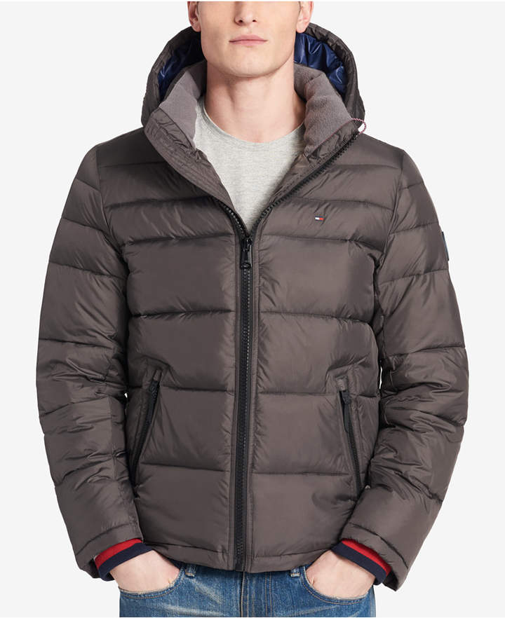 Tommy Hilfiger Men's Big & Tall Quilted Hooded Puffer Jacket