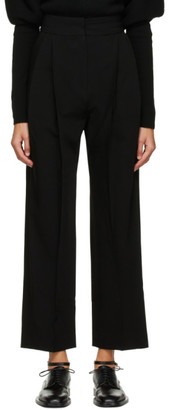 Low Classic Black Pintuck Trousers