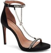 BCBGMAXAZRIA Ella Chain Satin Stiletto Sandal