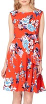 Tahari Women's Floral Faux Wrap Dress