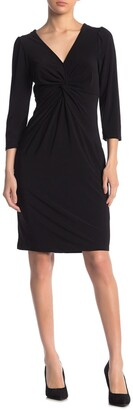 Laundry by Shelli Segal Front Twist Jersey Knit Dress