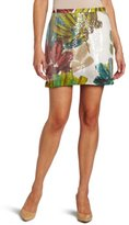 Kenneth Cole Women's Jungle Floral Print Sequin Skirt