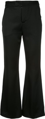 Josie Natori Flared Crop Trousers