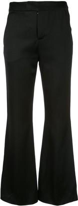 Josie Natori flared crop trousers