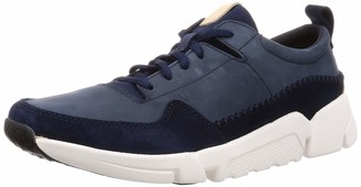 Clarks Men's Triactive Run Low-Top Sneakers Blue (Navy Nubuck 10 UK
