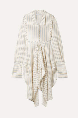 J.W.Anderson Draped Striped Woven Tunic - Ivory