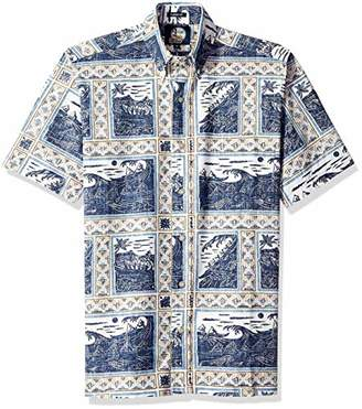 Reyn Spooner Men's Molokai to Oahu Spooner Kloth Classic Fit Hawaiian Shirt