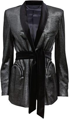 BLAZÉ MILANO Coolys Metallic Robe Blazer