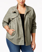 Style&Co. Style & Co Plus Size Cotton Embroidered Utility Jacket, Only at Macy's