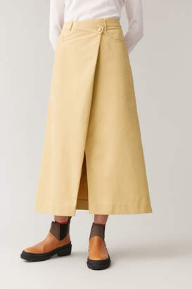 Cos COTTON SKIRT WITH WRAP DETAIL