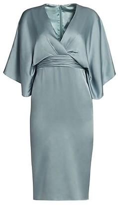 Theia Kimono V-Neck Sheath Dress
