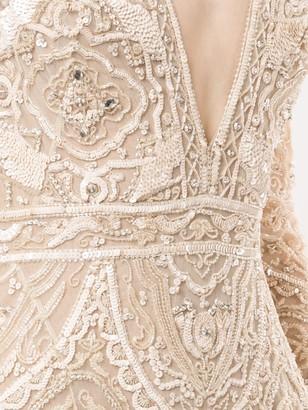 ZUHAIR MURAD Long Sleeve Embellished Gown