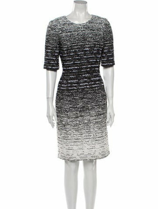 Oscar de la Renta 2015 Knee-Length Dress Black