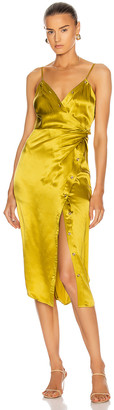 Alexander Wang Cami Twist Midi Dress in Chartreuse | FWRD