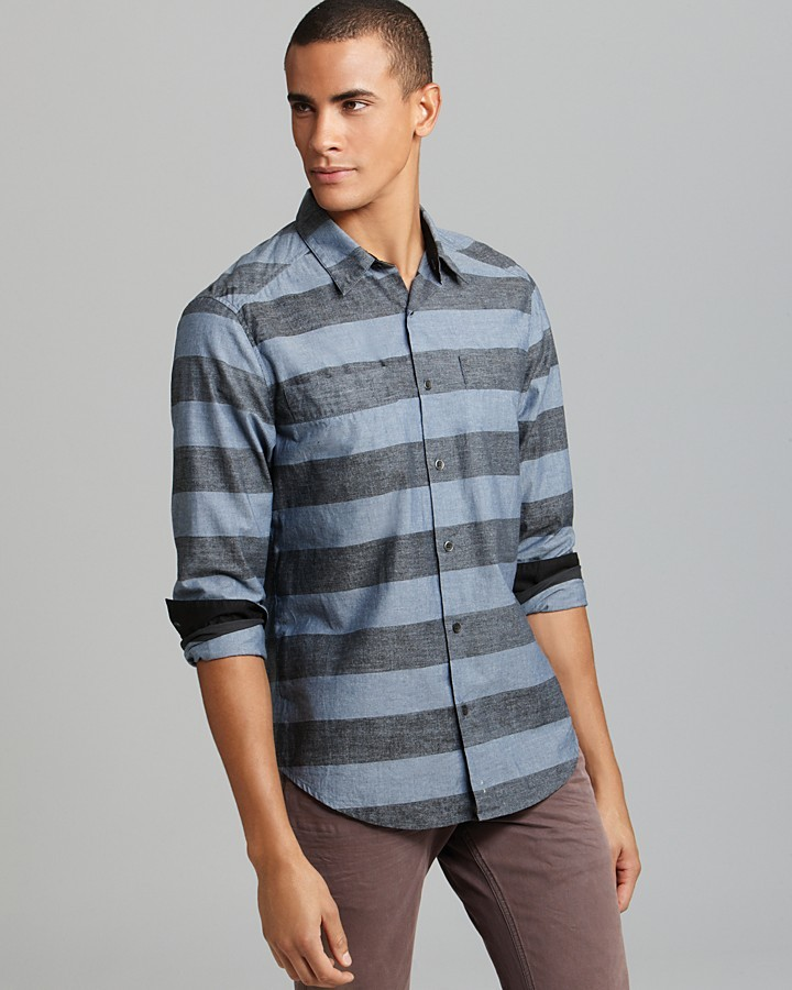 Rogan Kaleff Bar Stripe Sport Shirt - Classic Fit