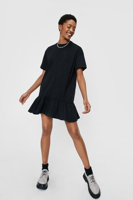 Nasty Gal Womens Name Drop Tee Mini Dress - Black