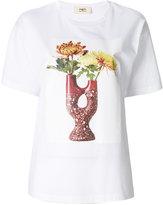 Ports 1961 Flower and Vase print T-shirt - women - Cotton - M