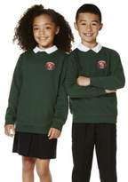 F&F School Unisex Embroidered School Sweatshirt with As New Technology