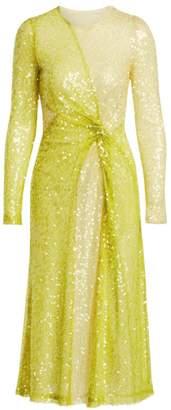Galvan Paillette A-Line Pinwheel Dress