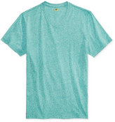 Club Room Men's Rib Knit V-Neck Heathered T-Shirt, Only at Macy's