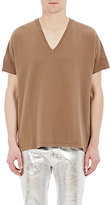 Maison Margiela Men's Oversized Drop-Shoulder T-Shirt-BROWN, TAN