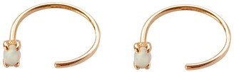 Wanderlust + Co Opal Hoop Gold Threader Earrings