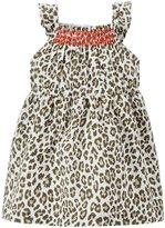Carter's Leopard Print Dress (Baby) - White-24 Months