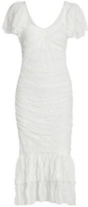 Cinq à Sept Nora Flounce Sheath Dress