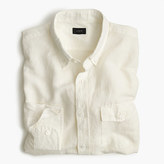 J.Crew Slim Irish cotton-linen shirt in solid