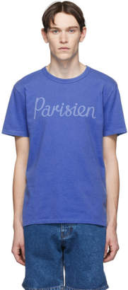 MAISON KITSUNÉ Blue Parisien T-Shirt